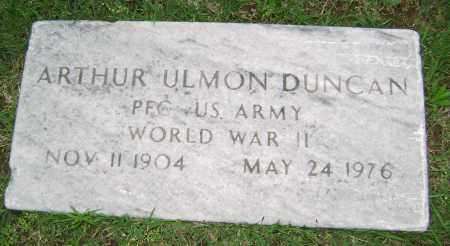 DUNCAN (VETERAN WWII), ARTHUR ULMON - Sharp County, Arkansas | ARTHUR ULMON DUNCAN (VETERAN WWII) - Arkansas Gravestone Photos
