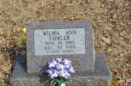 FOWLER, WILMA ANN - Sharp County, Arkansas | WILMA ANN FOWLER - Arkansas Gravestone Photos
