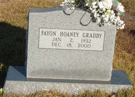 HOANEY GRADDY, FAYON - Sharp County, Arkansas | FAYON HOANEY GRADDY - Arkansas Gravestone Photos