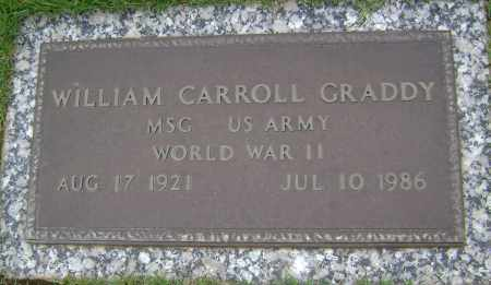 GRADDY (VETERAN WWII), WILLIAM CARROLL - Sharp County, Arkansas | WILLIAM CARROLL GRADDY (VETERAN WWII) - Arkansas Gravestone Photos