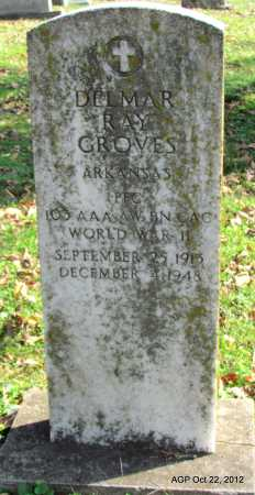 GROVES (VETERAN WWII), DELMAR RAY - Sharp County, Arkansas | DELMAR RAY GROVES (VETERAN WWII) - Arkansas Gravestone Photos