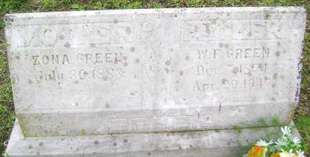 GREEN, ZONA - Sharp County, Arkansas | ZONA GREEN - Arkansas Gravestone Photos