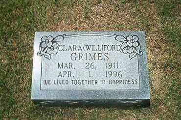 WILLIFORD GRIMES, CLARA - Sharp County, Arkansas | CLARA WILLIFORD GRIMES - Arkansas Gravestone Photos