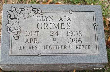GRIMES, GLYN ASA - Sharp County, Arkansas | GLYN ASA GRIMES - Arkansas Gravestone Photos