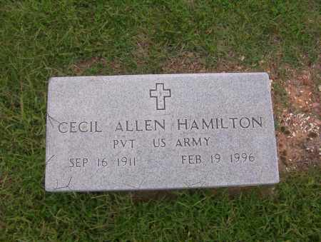 HAMILTON (VETERAN), CECIL ALLEN - Sharp County, Arkansas | CECIL ALLEN HAMILTON (VETERAN) - Arkansas Gravestone Photos
