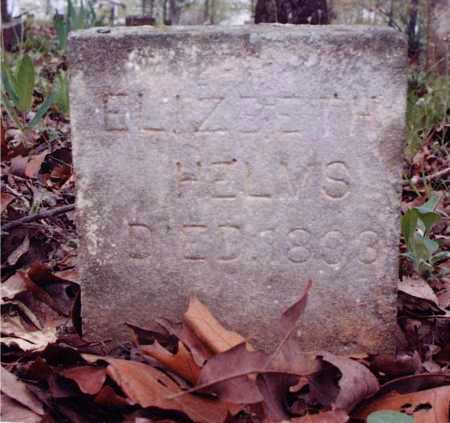 HELMS, ELIZABETH - Sharp County, Arkansas | ELIZABETH HELMS - Arkansas Gravestone Photos