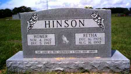 HINSON, HOMER - Sharp County, Arkansas | HOMER HINSON - Arkansas Gravestone Photos