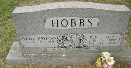 "HOBBS, SR, REV, JOE DEAN ""J. D."" - Sharp County, Arkansas 