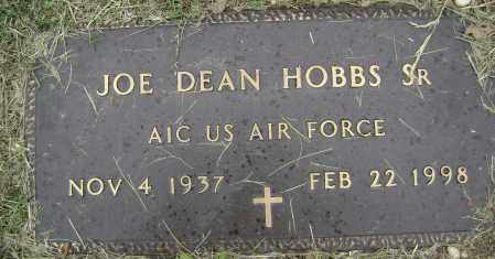 HOBBS, SR (VETERAN), JOE DEAN - Sharp County, Arkansas | JOE DEAN HOBBS, SR (VETERAN) - Arkansas Gravestone Photos