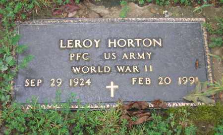 HORTON (VETERAN WWII), LEROY - Sharp County, Arkansas | LEROY HORTON (VETERAN WWII) - Arkansas Gravestone Photos