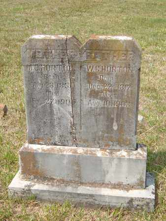 "HORTON, WILLIAM GATELY ""W. G."" - Sharp County, Arkansas 
