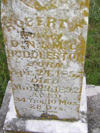 HUDDLESTON, ROBERT E. (CLOSE UP) - Sharp County, Arkansas | ROBERT E. (CLOSE UP) HUDDLESTON - Arkansas Gravestone Photos