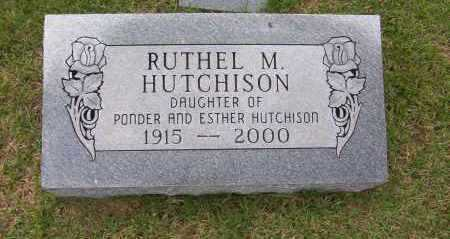 HUTCHISON, RUTHEL M. - Sharp County, Arkansas | RUTHEL M. HUTCHISON - Arkansas Gravestone Photos