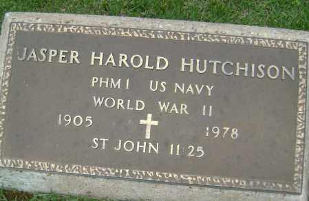 HUTCHISON (VETERAN WWII), JASPER HAROLD - Sharp County, Arkansas | JASPER HAROLD HUTCHISON (VETERAN WWII) - Arkansas Gravestone Photos