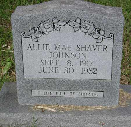 SHAVER JOHNSON, ALLIE MAE - Sharp County, Arkansas | ALLIE MAE SHAVER JOHNSON - Arkansas Gravestone Photos