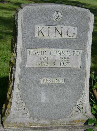 KING, DAVID LUNSFORD - Sharp County, Arkansas | DAVID LUNSFORD KING - Arkansas Gravestone Photos
