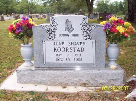 KOORSTAD, JUNE - Sharp County, Arkansas | JUNE KOORSTAD - Arkansas Gravestone Photos