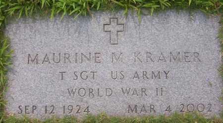 KRAMER (VETERAN WWII), MAURINE - Sharp County, Arkansas | MAURINE KRAMER (VETERAN WWII) - Arkansas Gravestone Photos