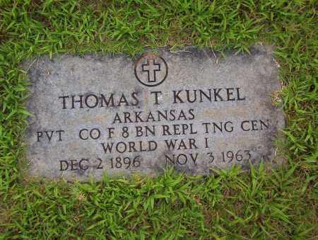 KUNKEL (VETERAN WWI), THOMAS T - Sharp County, Arkansas | THOMAS T KUNKEL (VETERAN WWI) - Arkansas Gravestone Photos