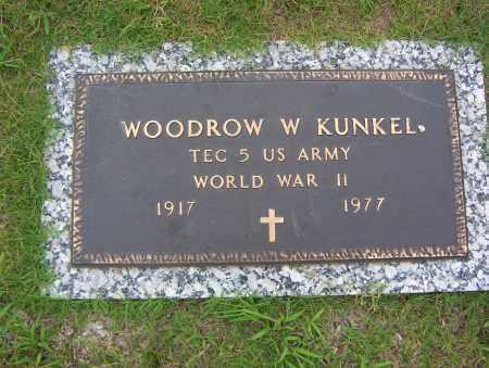 KUNKEL (VETERAN WWII), WOODROW W - Sharp County, Arkansas | WOODROW W KUNKEL (VETERAN WWII) - Arkansas Gravestone Photos