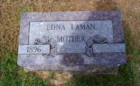 LAMAN, EDNA ETHEL - Sharp County, Arkansas | EDNA ETHEL LAMAN - Arkansas Gravestone Photos