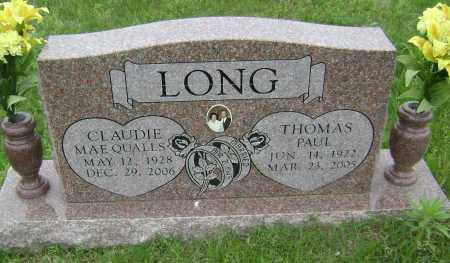 QUALLS LONG, CLAUDIE MAE - Sharp County, Arkansas | CLAUDIE MAE QUALLS LONG - Arkansas Gravestone Photos