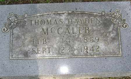 MCCALEB, THOMAS HAYDEN - Sharp County, Arkansas | THOMAS HAYDEN MCCALEB - Arkansas Gravestone Photos