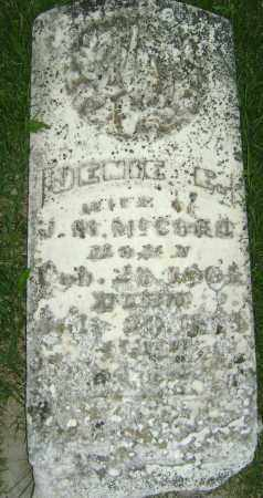 MCCORD, JENNIE E - Sharp County, Arkansas | JENNIE E MCCORD - Arkansas Gravestone Photos
