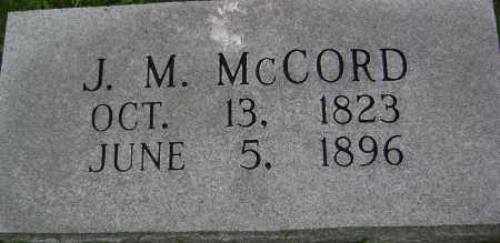 "MCCORD, JOSEPH MULKIE ""J M"" - Sharp County, Arkansas 