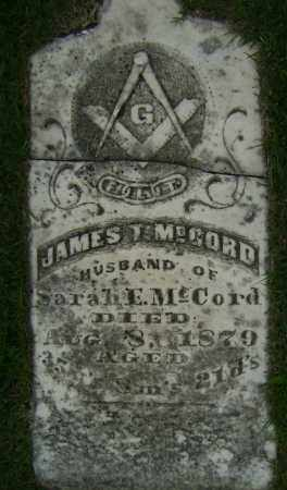 MCCORD, JAMES T - Sharp County, Arkansas | JAMES T MCCORD - Arkansas Gravestone Photos
