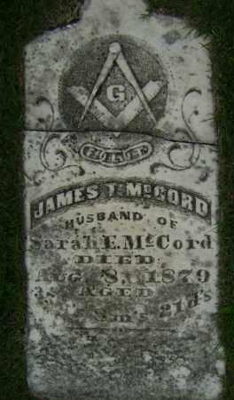 MCCORD, JAMES T - Sharp County, Arkansas | JAMES T MCCORD - Arkansas Gravestone Photos