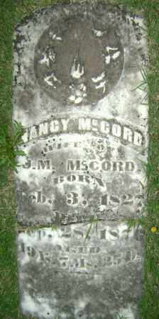 MCCORD, NANCY - Sharp County, Arkansas | NANCY MCCORD - Arkansas Gravestone Photos