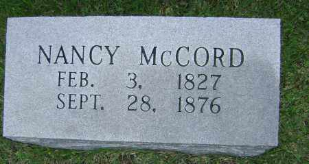MCCORD, NANCY - Sharp County, Arkansas | NANCY MCCORD - Arkansas Gravestone Photos