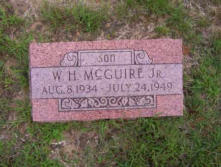 "MCGUIRE, JR., WILLIAM HOMER ""W. H."" - Sharp County, Arkansas | WILLIAM HOMER ""W. H."" MCGUIRE, JR. - Arkansas Gravestone Photos"