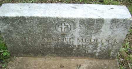 MEDLOCK (VETERAN WWII), JAMES ALBERT - Sharp County, Arkansas | JAMES ALBERT MEDLOCK (VETERAN WWII) - Arkansas Gravestone Photos