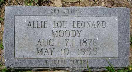 LEONARD MOODY, ALLIE LOU - Sharp County, Arkansas | ALLIE LOU LEONARD MOODY - Arkansas Gravestone Photos