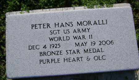 MORALLI (VETERAN WWII), PETER HANS - Sharp County, Arkansas | PETER HANS MORALLI (VETERAN WWII) - Arkansas Gravestone Photos