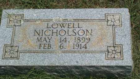 NICHOLSON, AUDIE LOWELL - Sharp County, Arkansas | AUDIE LOWELL NICHOLSON - Arkansas Gravestone Photos