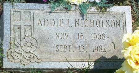 NICHOLSON, ADDIE I. - Sharp County, Arkansas | ADDIE I. NICHOLSON - Arkansas Gravestone Photos