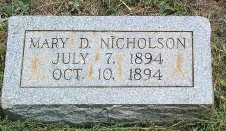 NICHOLSON, MARY DRUCILLA - Sharp County, Arkansas | MARY DRUCILLA NICHOLSON - Arkansas Gravestone Photos