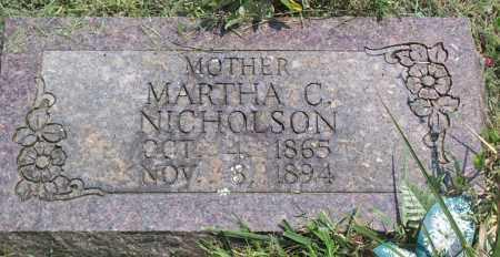 SPURLOCK NICHOLSON, MARTHA CAROLINE - Sharp County, Arkansas | MARTHA CAROLINE SPURLOCK NICHOLSON - Arkansas Gravestone Photos