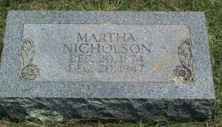 ROGERS NICHOLSON, MARTHA MINERVA - Sharp County, Arkansas | MARTHA MINERVA ROGERS NICHOLSON - Arkansas Gravestone Photos