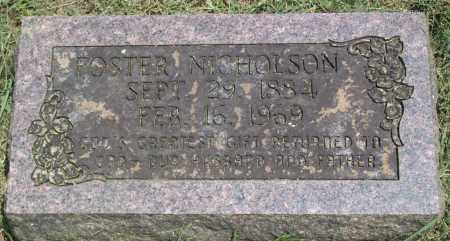 NICHOLSON, STEPHEN FOSTER - Sharp County, Arkansas | STEPHEN FOSTER NICHOLSON - Arkansas Gravestone Photos
