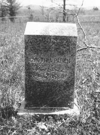 PADEN, CYNTHIA - Sharp County, Arkansas | CYNTHIA PADEN - Arkansas Gravestone Photos