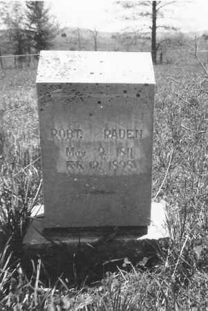 PADEN, ROBERT - Sharp County, Arkansas | ROBERT PADEN - Arkansas Gravestone Photos