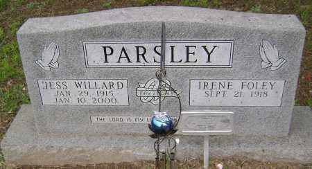 FOLEY PARSLEY, IRENE - Sharp County, Arkansas | IRENE FOLEY PARSLEY - Arkansas Gravestone Photos
