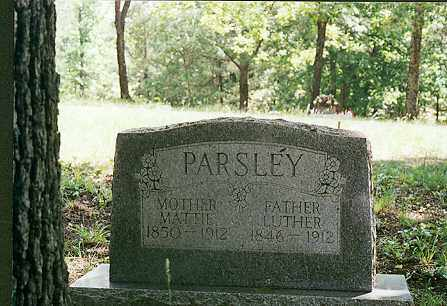 PARSLEY, LUTHER - Sharp County, Arkansas | LUTHER PARSLEY - Arkansas Gravestone Photos