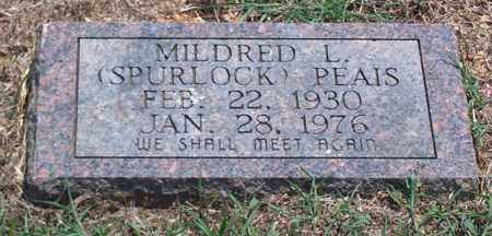 SPURLOCK PEAIS, MILDRED L. - Sharp County, Arkansas | MILDRED L. SPURLOCK PEAIS - Arkansas Gravestone Photos