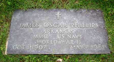 PHILLIPS (VETERAN WWII), JAMES OSCAR - Sharp County, Arkansas | JAMES OSCAR PHILLIPS (VETERAN WWII) - Arkansas Gravestone Photos
