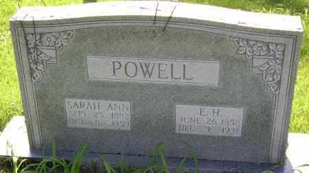 POWELL, SARAH ANN - Sharp County, Arkansas | SARAH ANN POWELL - Arkansas Gravestone Photos